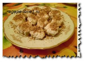Фарщированные яблоки мороженым и орещками